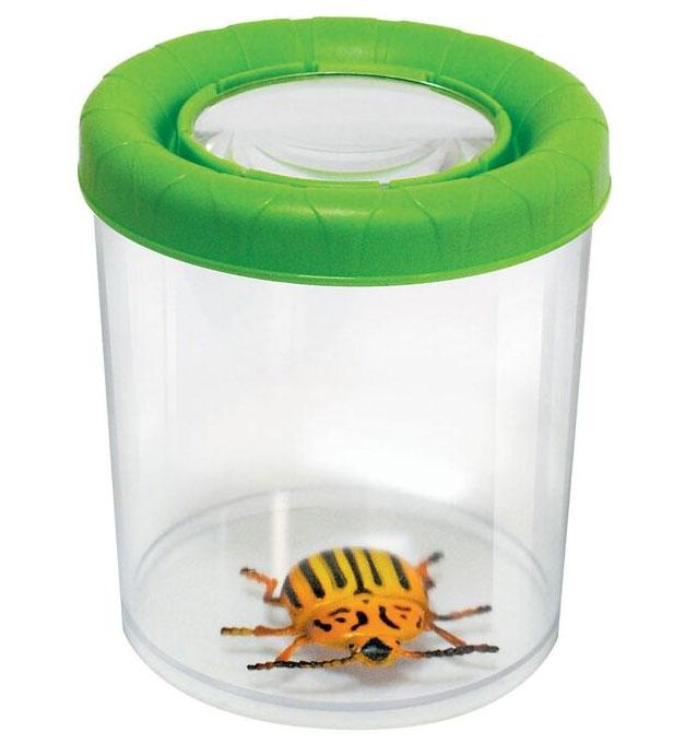 Картинка для Банка для насекомых Navir «Мега» с лупой 3x и жуком, зеленый