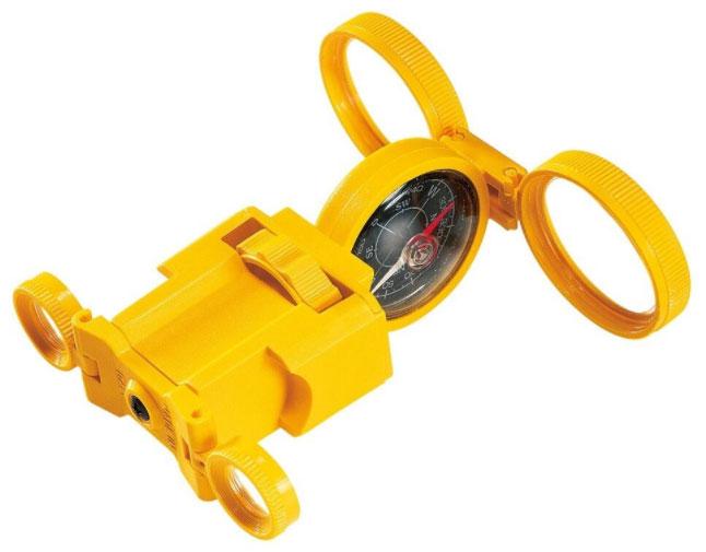 Картинка для Искатель оптический детский Navir «6 в 1» с креплением для ремня, желтый