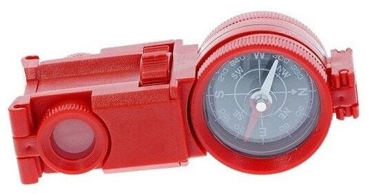 Картинка для Искатель оптический детский Navir «6 в 1» с креплением для ремня, красный