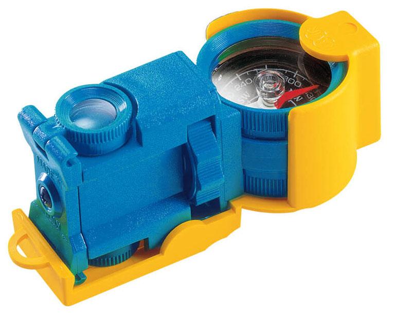 Картинка для Искатель оптический детский Navir «6 в 1» с креплением для ремня, синий