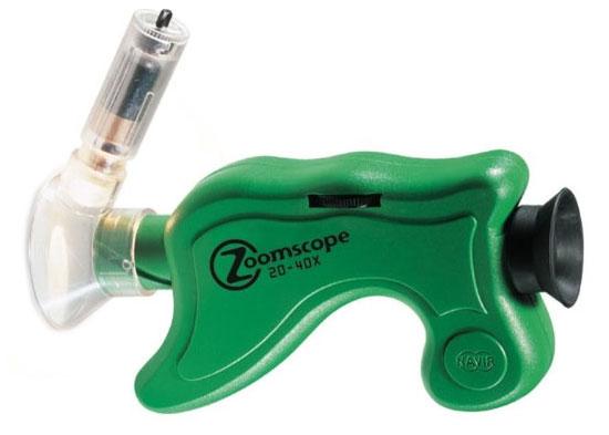 Картинка для Микроскоп детский портативный Navir «Зумскоп» 20–40x, с подсветкой, матовый зеленый