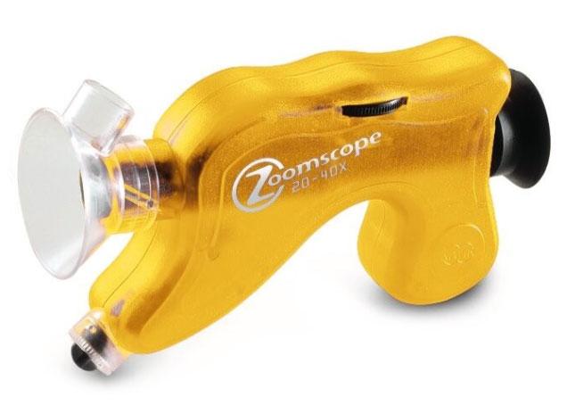 Картинка для Микроскоп детский портативный Navir «Зумскоп» 20–40x, с подсветкой, прозрачный желтый