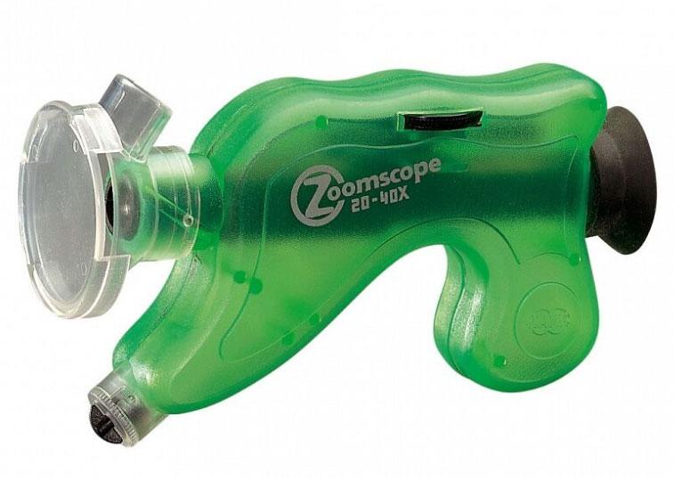 Картинка для Микроскоп детский портативный Navir «Зумскоп» 20–40x, с подсветкой, прозрачный зеленый