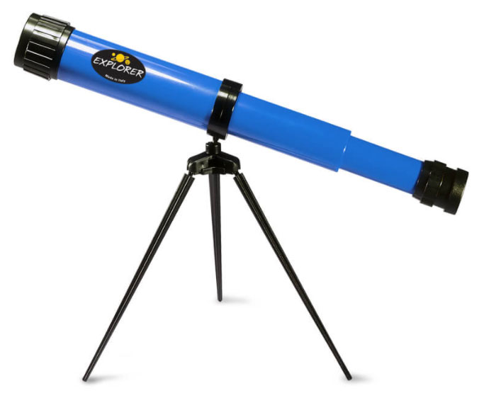 Картинка для Телескоп детский настольный Navir 15x c дополнительной линзой на 25x, голубой