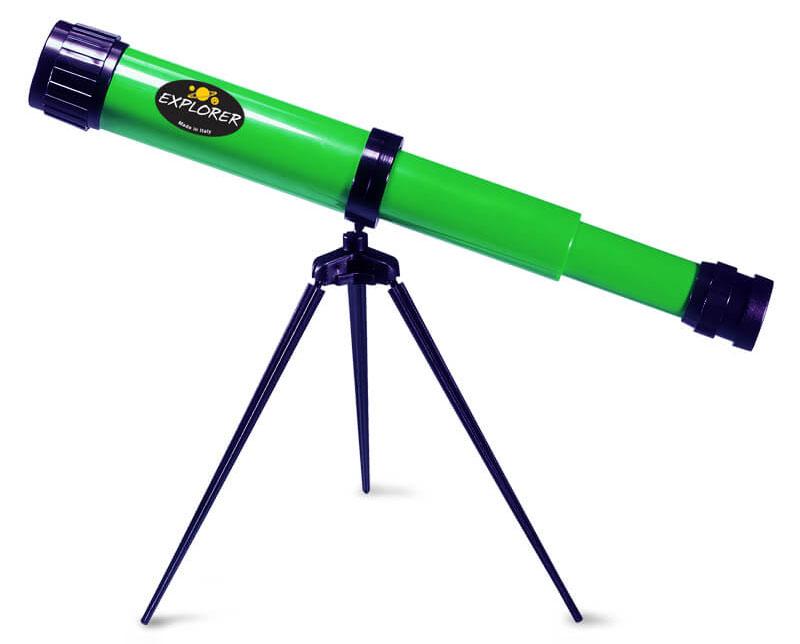 Картинка для Телескоп детский настольный Navir 15x c дополнительной линзой на 25x, зеленый