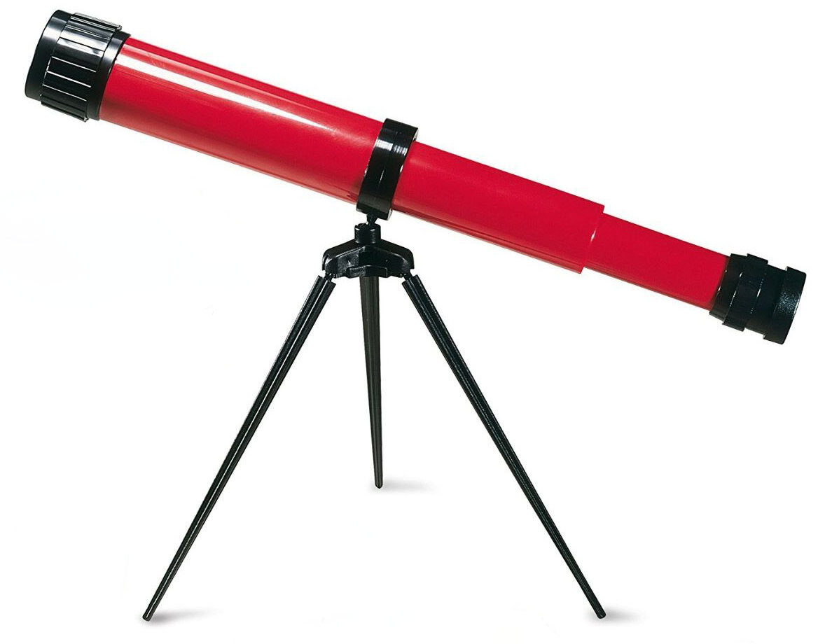 Картинка для Телескоп детский настольный Navir 15x c дополнительной линзой на 25x, красный