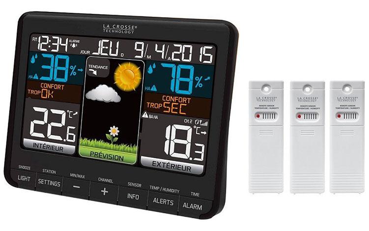 Картинка для Метеостанция La Crosse WS6825 2 с цветным экраном и тремя датчиками