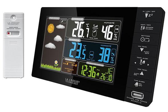 Картинка для Метеостанция La Crosse WS6827 с цветным экраном и USB-портом