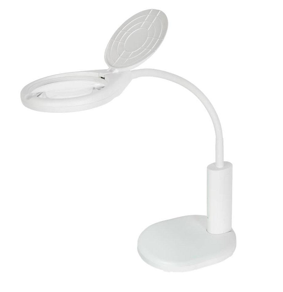 Картинка для Лупа-лампа настольная Veber 2D LED, с подсветкой (8611)