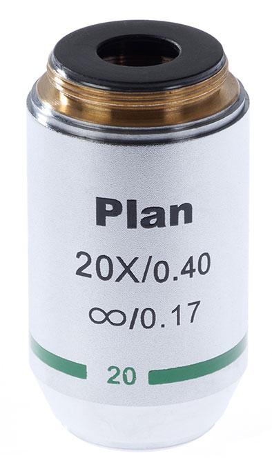 Картинка для Объектив 20х/0,4 Plan Л беск/0,17 для микроскопа Микромед-3 ЛЮМ