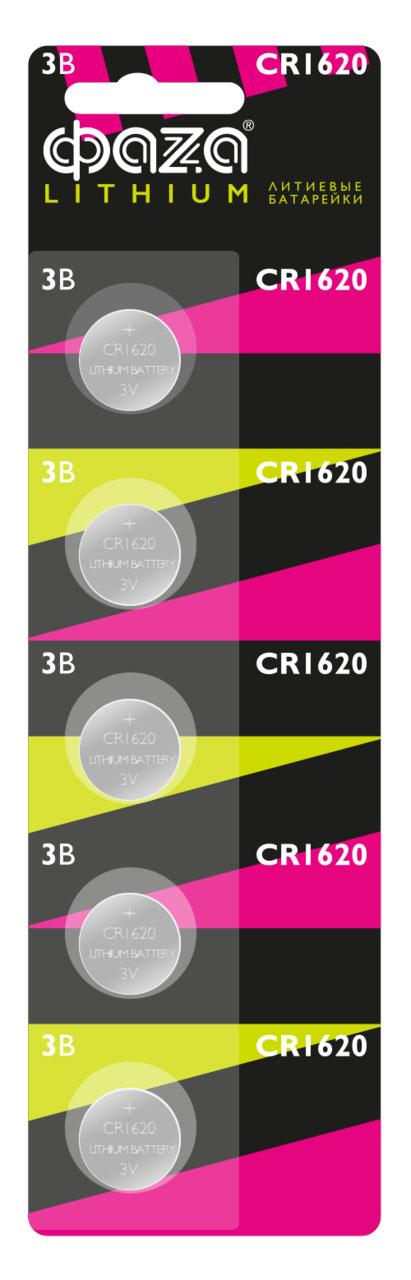 Картинка для Элемент питания Фаza CR1620 (1 шт.), литиевый