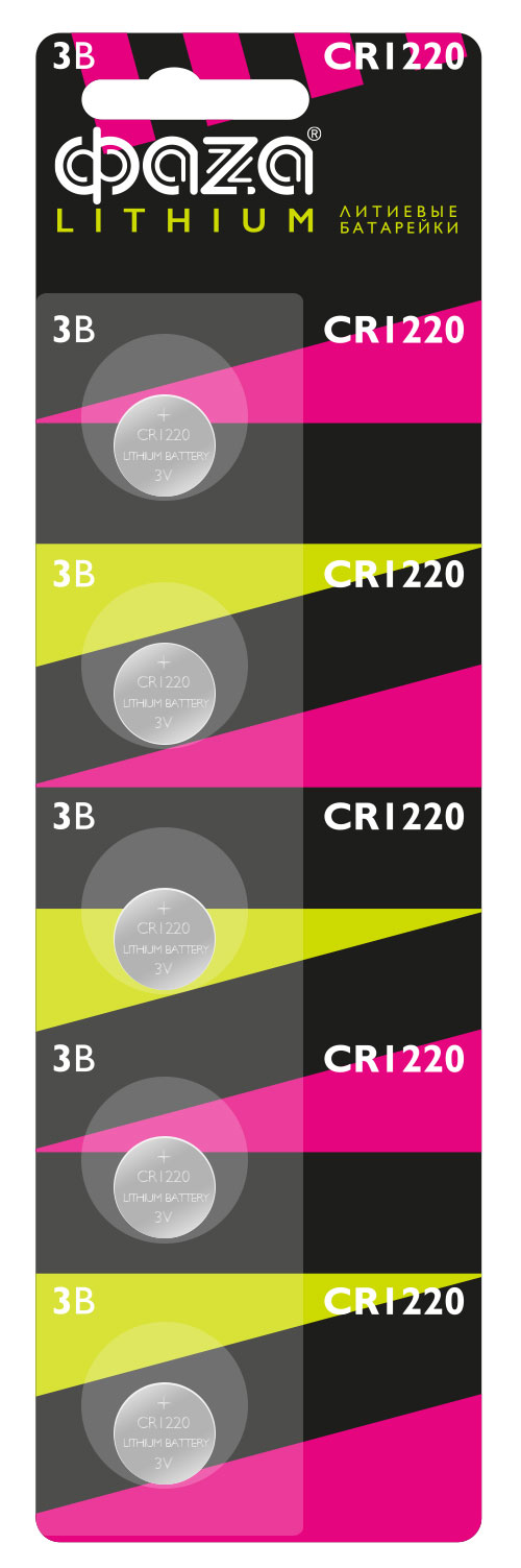 Картинка для Элемент питания Фаza CR1220 (1 шт.), литиевый