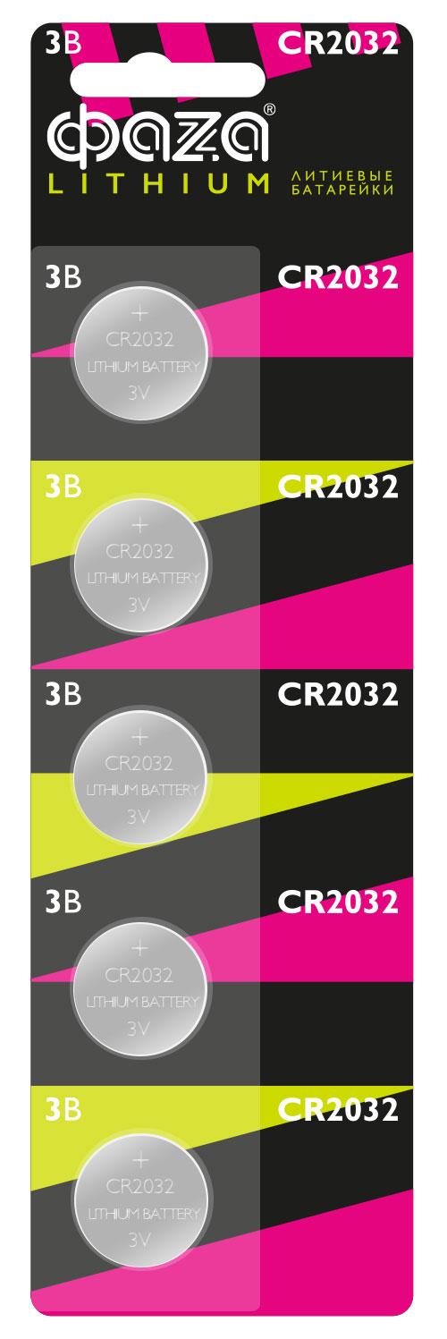 Картинка для Элемент питания Фаza CR2032 (1 шт.), литиевый
