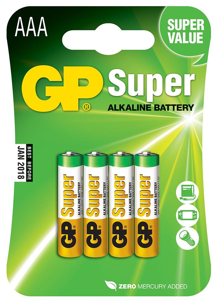 Картинка для Элемент питания GP Super Alkaline GP 24A-2CR4 AAA