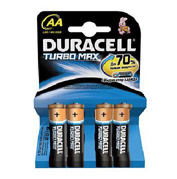 Картинка для Элемент питания Duracell Turbo Max AA LR6 (4 шт.)