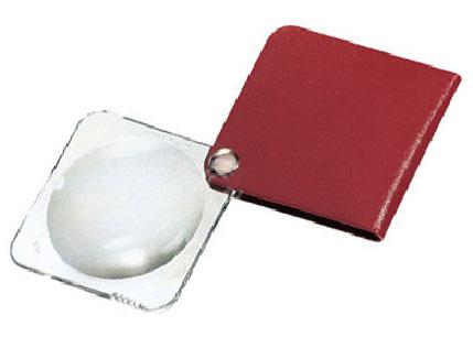 Картинка для Лупа складная двояковыпуклая Eschenbach Classic 3,5x, 60 мм, малиновый чехол (квадратный)