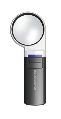 Картинка для Лупа на ручке асферическая Eschenbach Mobilux LED 3x, 60 мм, с подсветкой