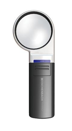 Картинка для Лупа на ручке асферическая Eschenbach Mobilux LED 4x, 60 мм, с подсветкой