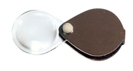 Картинка для Лупа складная двояковыпуклая Eschenbach Classic 3,5x, 50 мм, темно-коричневый чехол