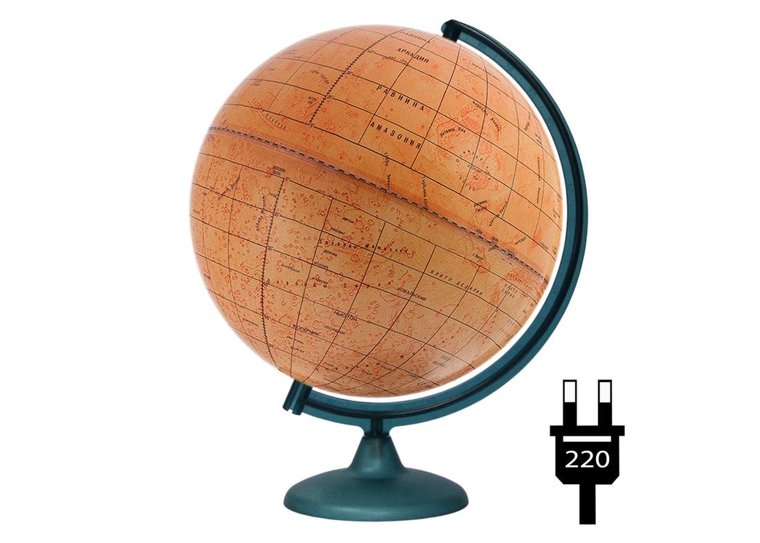 Картинка для Глобус Марса диаметром 320 мм, с подсветкой