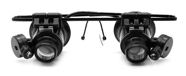 Лупа-очки Kromatech налобная бинокулярная 20x, с подсветкой (2 LED) MG9892A-II  555.000
