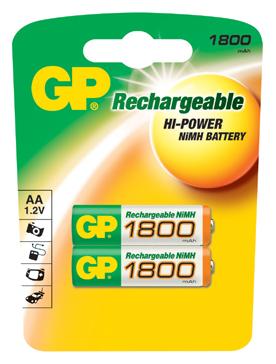 Картинка для Аккумулятор GP AA 1800 мАч NiMH