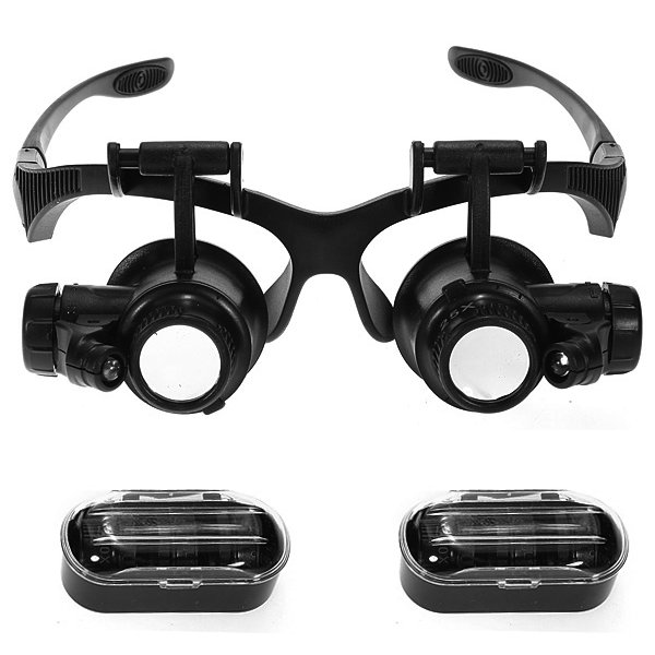 Картинка для Лупа-очки Kromatech налобная 10/15/20/25x, с подсветкой (2 LED) MG9892G/GJ