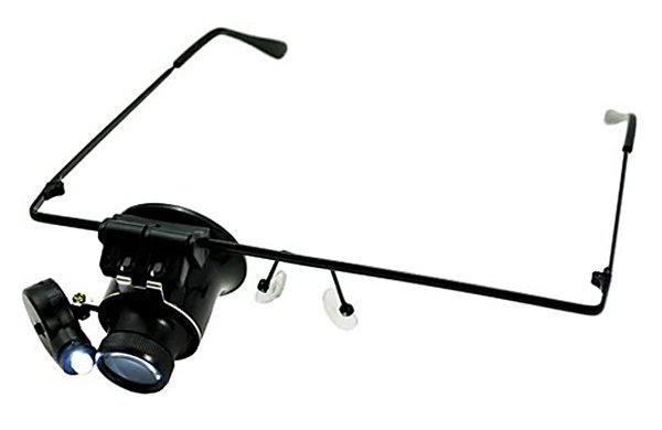 Картинка для Лупа-очки Kromatech налобная монокулярная 20x, с подсветкой (1 LED) MG9892A