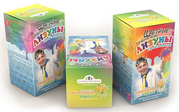 Картинка для Набор для опытов «Инновации для детей» 819 «Цветные лизуны»