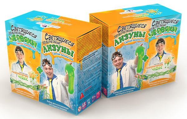 Картинка для Набор для опытов «Инновации для детей» 828 «Светящиеся червяки и лизуны»