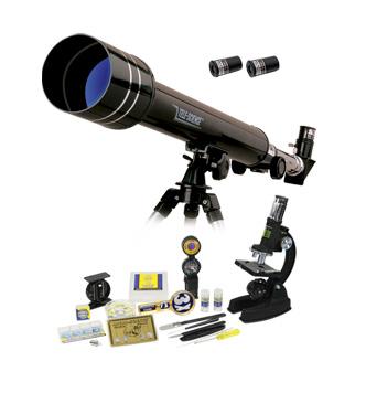 Картинка для Набор Eastcolight: телескоп 50/500 и микроскоп 100–1000x в подарочном кейсе, 84 аксессуара в комплекте
