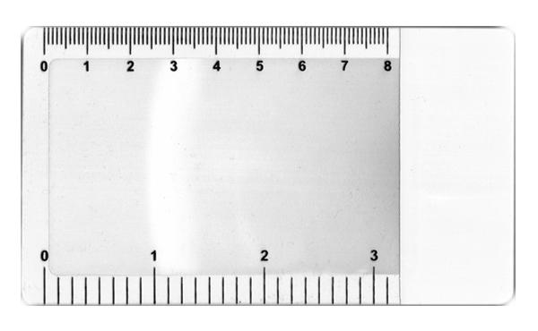 Картинка для Линза Френеля Kromatech 3х, 115х65 мм, гибкая, линейка-закладка