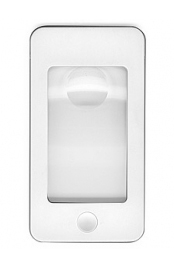 Картинка для Лупа Kromatech карманная «Смартфон» 5/16x, 75х43 мм, с подсветкой (4 LED), белая G-188