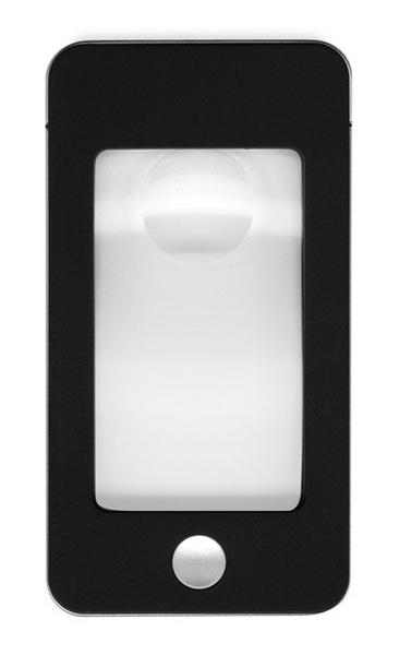Картинка для Лупа Kromatech карманная «Смартфон» 5/16x, 75х43 мм, с подсветкой (4 LED), черная G-188