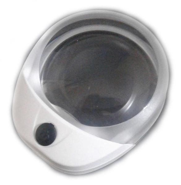 Картинка для Лупа Kromatech настольная контактная 10x, 60 мм, с подсветкой (1 LED) PW6010C
