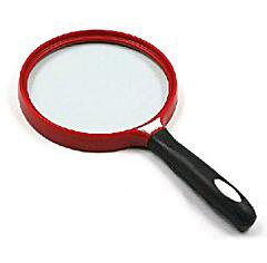 Картинка для Лупа Kromatech ручная круглая 3х, 140 мм, черно-красная