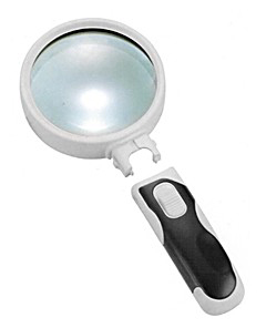 Картинка для Лупа Kromatech ручная круглая 16x, 37 мм, с подсветкой (2 LED), черно-белая 77337B