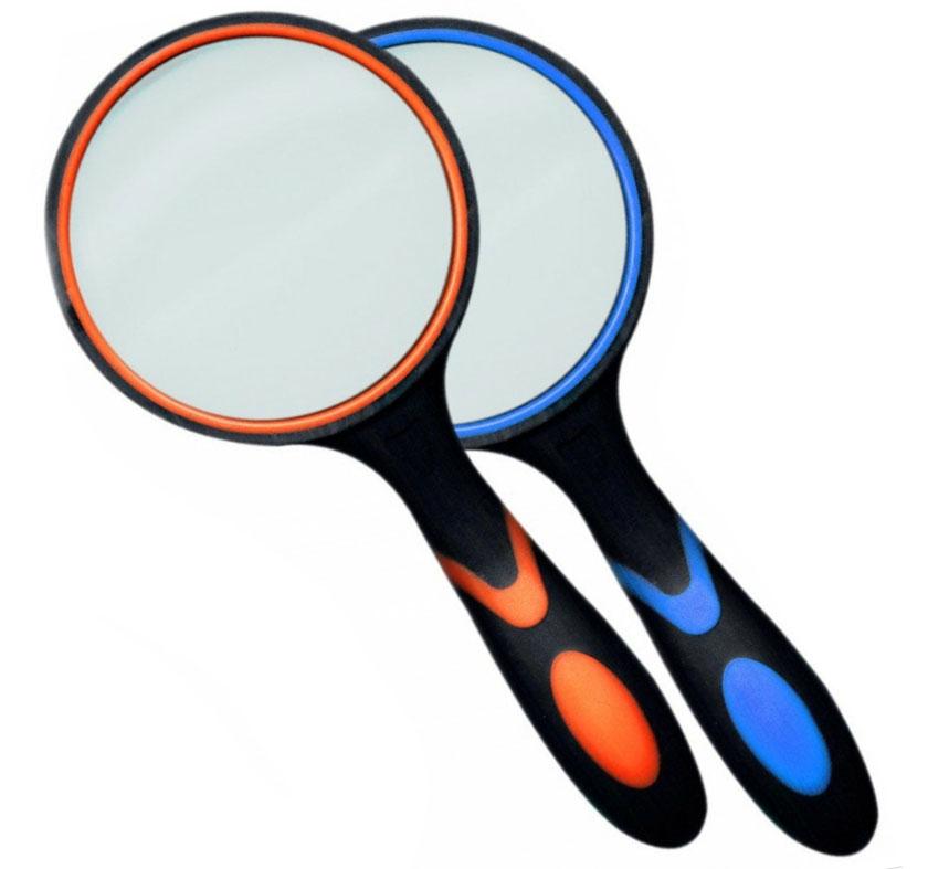 Картинка для Лупа Kromatech ручная круглая 4х, 75 мм, с двухцветной ручкой