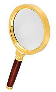 Картинка для Лупа Kromatech ручная круглая 6х, 50 мм, в металлической оправе с деревянной ручкой