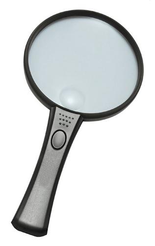Картинка для Лупа Kromatech ручная круглая 3,5/10х, 65/17 мм, с подсветкой (2 LED) MG2B-6