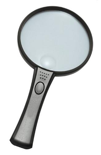Картинка для Лупа Kromatech ручная круглая 3/8х, 75/19 мм, с подсветкой (2 LED) MG2B-5