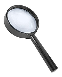Картинка для Лупа Kromatech ручная круглая 6х, 75 мм, черная (ZB-1007-75)