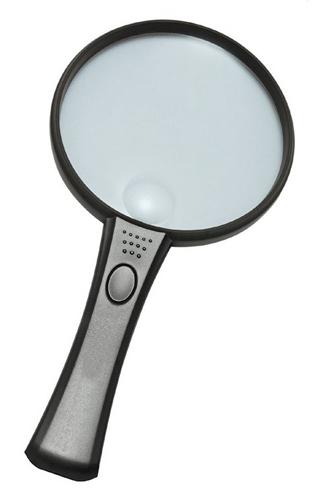 Картинка для Лупа Kromatech ручная круглая 2/4х, 90/21 мм, с подсветкой (2 LED) MG2B-4