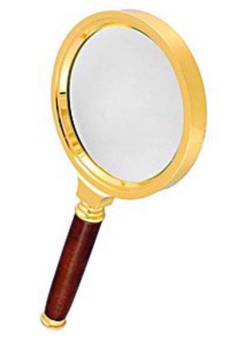 Картинка для Лупа Kromatech ручная круглая 6х, 90 мм, в металлической оправе с деревянной ручкой