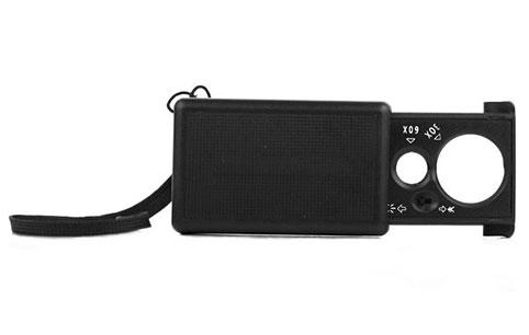 Картинка для Лупа Kromatech ювелирная 30/60x, 21/12 мм, раздвижная, с подсветкой (2 LED) MG9881
