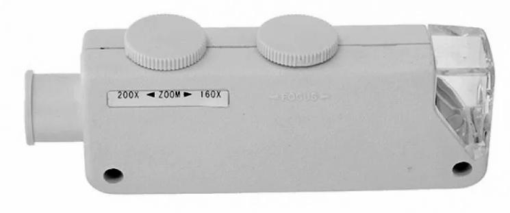 Картинка для Микроскоп карманный Kromatech 160–200x, с подсветкой (1 LED) MG10081-1A
