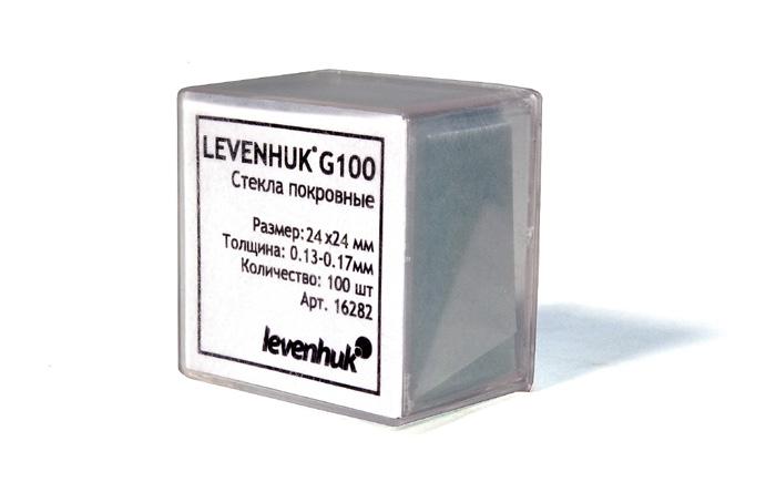 Покровные стекла Levenhuk (Левенгук) G100, 100 шт.  250.000