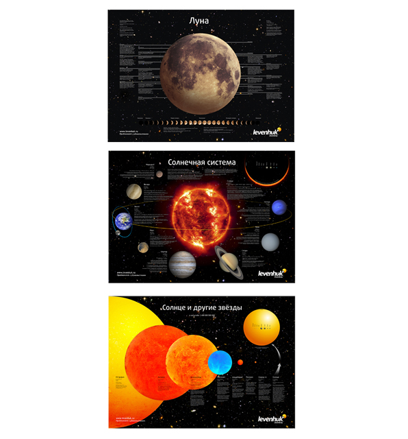 Комплект постеров Levenhuk (Левенгук) «Космос»  690.000