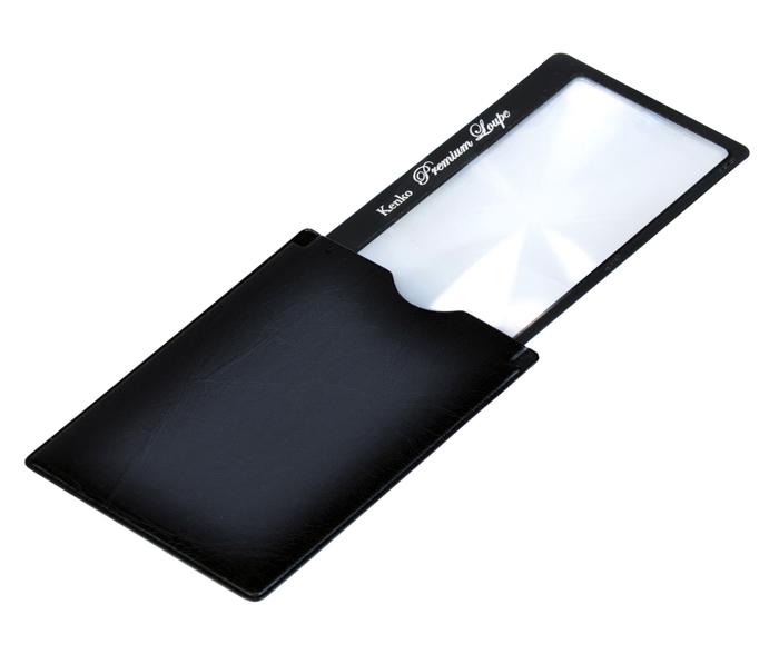 Картинка для Лупа-закладка Kenko Premium 3х, 41x73 мм, с чехлом со стопором, черная (KLT-015)