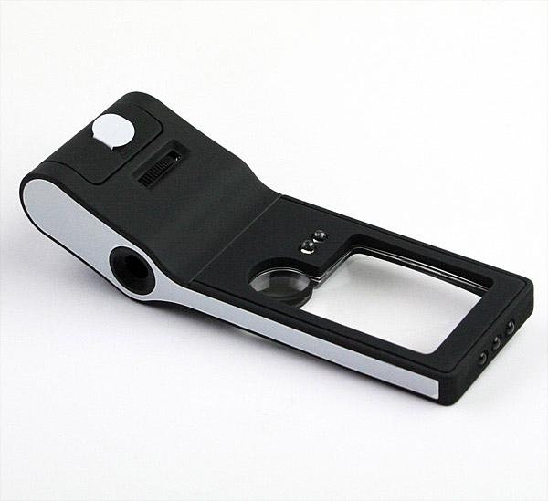 Картинка для Лупа Kromatech карманная 3/10/55x, с микроскопом и подсветкой (6 LED), черная